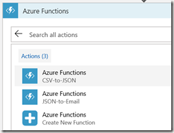 AZUREportal Ent Integration and LogicApp create 23 add function app to Logic app
