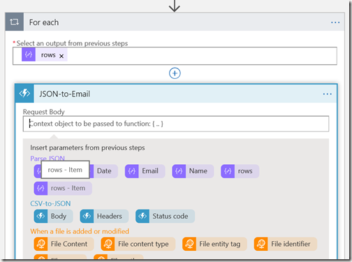 AZUREportal Ent Integration and LogicApp create 31 add function app to Logic app