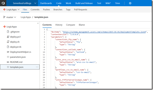 AZUREportal Ent Integration and LogicApp create 58 DevOps